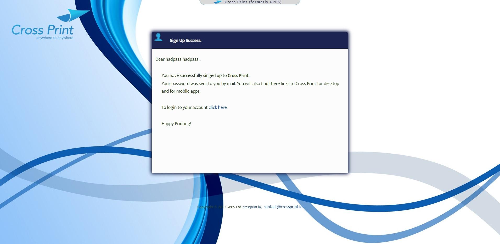 דף אישור רישום (תמונה)