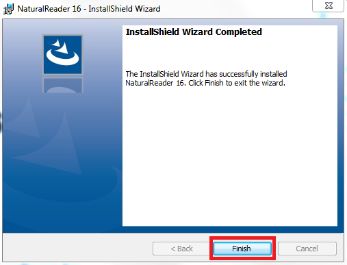 """חלון סיום התקנה """"installshield Wizard Completed"""""""